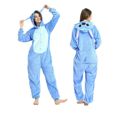 Kids Adult Animal Onesie10 Kigurumi Cosplay Pyjamas Costume Sleepwear Stitch