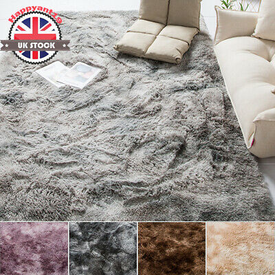 UK Soft Cosy Shaggy Rugs Fluffy Living Room Area Carpets Bedroom Decor 3cm Large