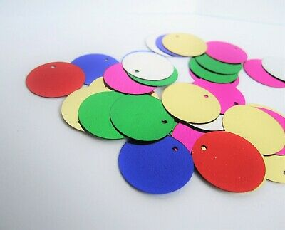 20mm round circle metallic multicoloured paillette sequins confetti scatter
