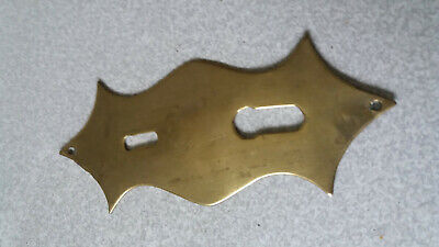 Antique / Vintage Brass Finger Plate - Double Key Escutcheon Door Plate -