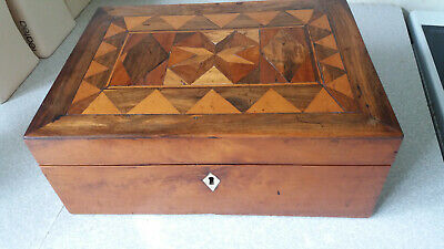 Antique Inlaid Wooden Marquetry Writing Slope Box- Restoration Project