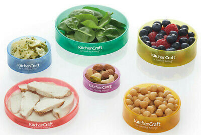 Kitchencraft Healthy Eating Portion Control Colour Coded Food Rings - Set Of 6