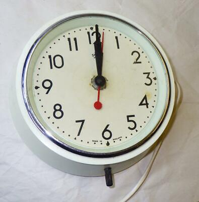 Smiths Mains Electric Vintage Wall Clock Working In  White Bakelite