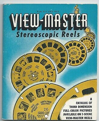 View-master Stereoscopic Reels Catalog Revised May 1946