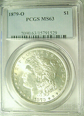 """1879-O Morgan Silver Dollar $1  Pcgs Ms 63  """"superb For The Grade""""  """"ice White"""""""