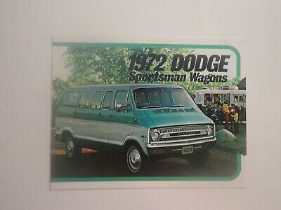 1972 DODGE SPORTSMAN WAGONS brochure - color - 12 pages