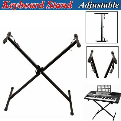 "Portable Keyboard Piano ""X"" Stand Electric Organ Rack Iron Height Adjustable"