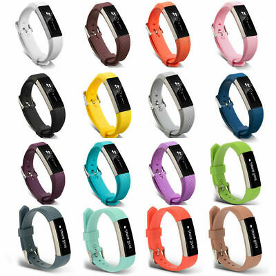 for Fitbit Alta, HR, ACE Strap Replacement Soft Silicone Buckle Sport Wristband