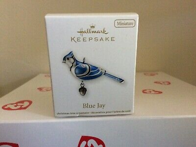 Hallmark 2012 Miniature Keepsake Ornament Beauty of Birds Blue Jay-NIB
