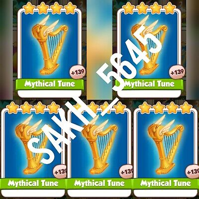 5 x Mythical Tune - Coin Master Cards ( Fastest Delivery )