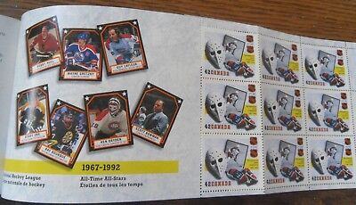 1993 Canada Post NHL 75th Anniversary Stamp Booklet With Stamps