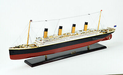 """RMS Titanic White Star Line Cruise Ship Model 53"""" with lights Top Quality"""