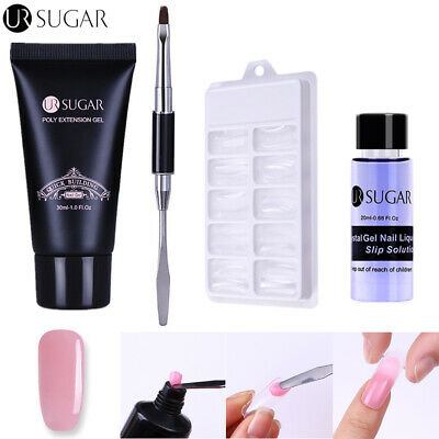 UR SUGAR 30ml Building UV Gel Polish Poly Extension Slip Solution Nail Tips