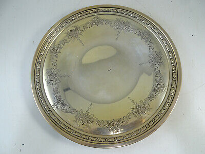"""Antique Sterling Silver Towle 10"""" Plate Dish Engraved 384.7 grams Vintage Old"""