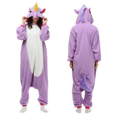 Kids Adult Animal Onesie10 Kigurumi Cosplay Pyjama Costume Sleepwear Unicorn
