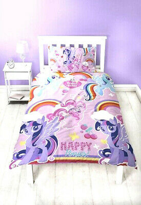 My Little Pony Crush PINK  JUNIOR COT Bed Duvet Quilt Cover Set TODDLER BEDDING