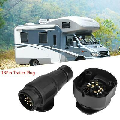 12V 13 Pin Trailer Plug Socket Towing Towbar Connector Adapter For Caravan RV UK
