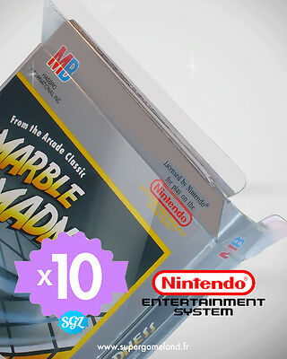 10 BOITIERS PROTECTION PROTECTIVE CASE NINTENDO NES 0,4 mm NEUFS