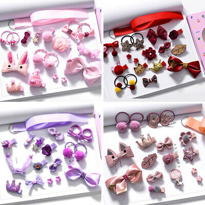 18Pcs Decoration Hairpin Bow Hair Accessories Headwear Set Infant Clip Baby Girl