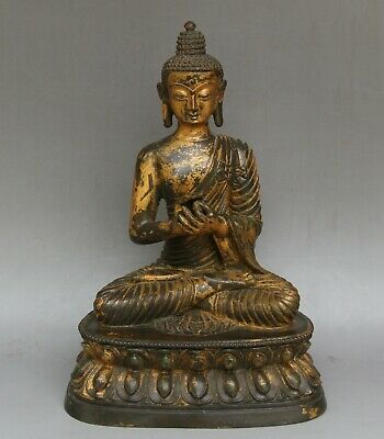 Chinese Exquisite Handmade Copper gilt Buddha statue