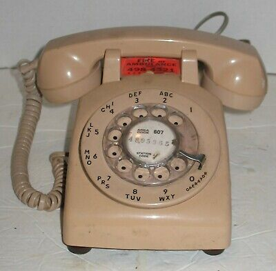 Vintage Pinkish Beige Stromberg-Carlson Rotary Dial Desk Phone Prop Display