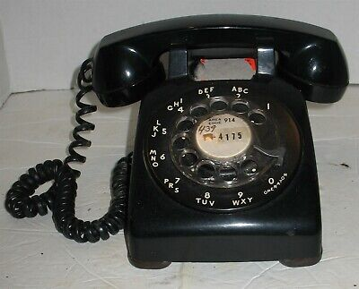 Vintage Black Bell System Western Electric Rotary Dial Desk Phone Prop Display