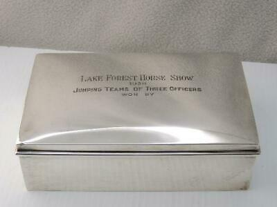 "Rare Antique 1938 Gorham Sterling Silver ""Lake Forest Fl. Horse Show"" Trophy Box"