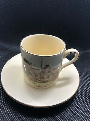 Royal Wonton staffordshire demitasse Cup And Saucer General Lee's Headquarters