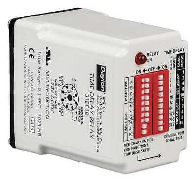 DAYTON 31EE10 TIME Delay Relay,120VAC/DC,10A,SPDT on