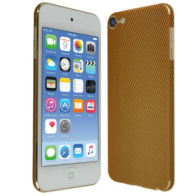 Skinomi Gold Carbon Fiber Skin Cover for Apple iPod Touch [7th Gen, 2019]