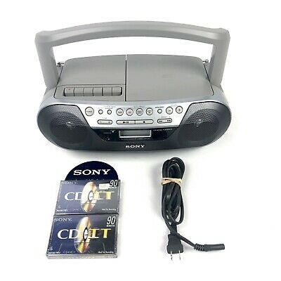 Sony Boombox CFD-S05 CD Player Radio Stereo & Cassette Tapes MINT condition