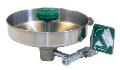 HAWS 7360B-7460B Wall-Mounted Eyewash Station with Stainless Steel Bowl in Green
