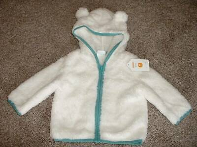 Gymboree Baby Boys Fluffy Friends Bear Cub Hoodie Jacket Size 3-6 months NWT NEW