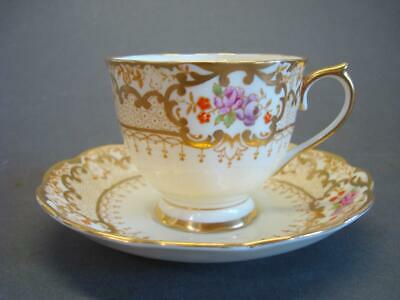 Royal Albert Bone China Tea Cup + Saucer Lovely Gold Accent