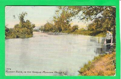 Postcard ~ Mohawk River in the famous Mohawk Valley ~ Vintage 7816