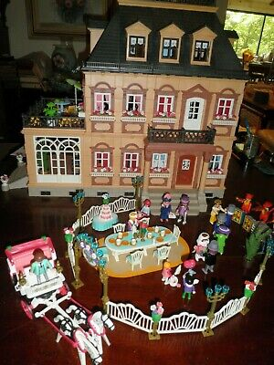 Playmobil 5300 Victorian MANSION Wedding Dance band dollhouse Carriage huge