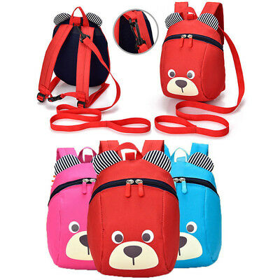 Kids Safety Harness Backpack Leash Child Toddler Anti-lost Little bear Pattern