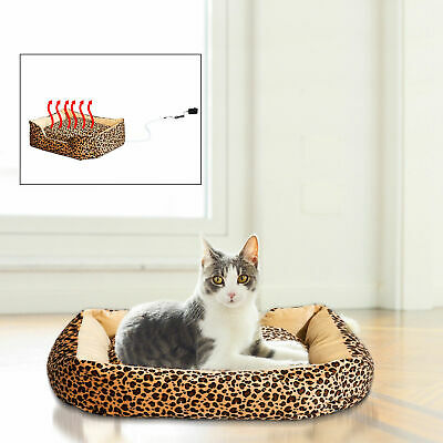 PawHut Pet Dog Puppy Heated Bed Electric Heating Beds Pad Sleeper Mat Safe