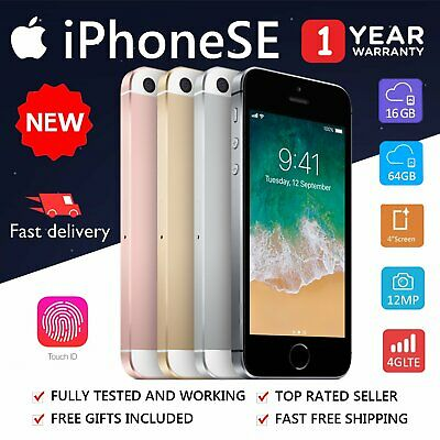 NEW Apple iPhone SE 16GB 64GB Space Grey Silver Rose Gold Unlocked Smartphone