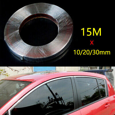 DIY Styling Chroming Body Guard Moulding Trim Protecter Strip Window Decoration