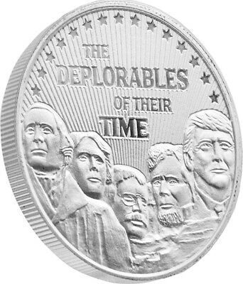 President Trump & The Deplorables 1oz Proof Like Silver Coin (t5s)