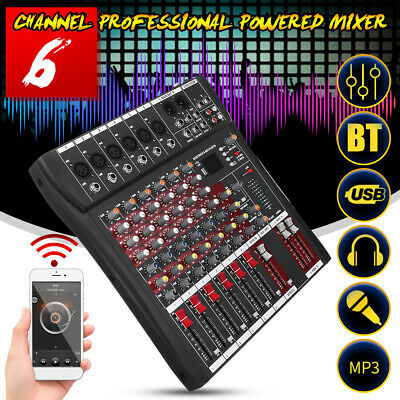 6 Channel  Stereo Sound Mixer Audio Live bluetooth Console Professional