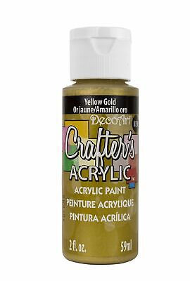 DecoArt DCA146-3 Crafters Acrylic Paint 2oz Yellow Gold