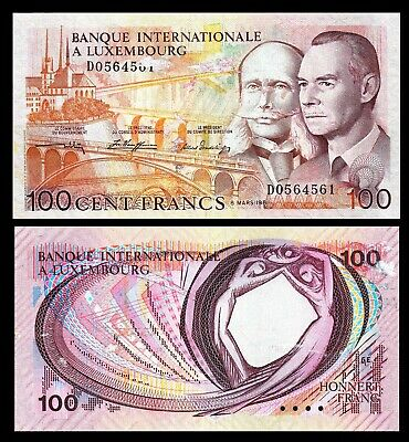 Luxembourg 100 Francs 1981 P 14  Xf / *Grand Duke Jean & Prince Henry Of The Net