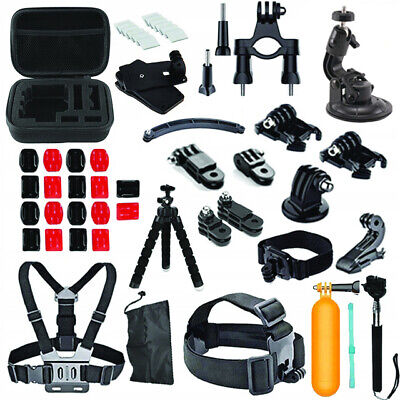 GoPro Accesories Set Kit Hero 5 6 7 Black Camera Head Chest Mount Bike Sports