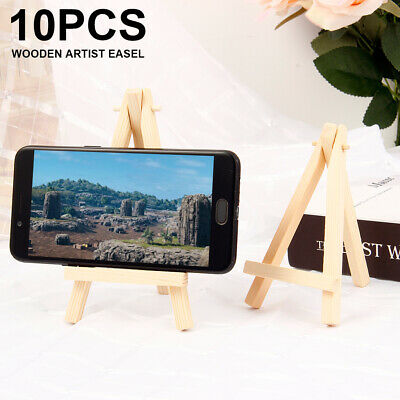 10* Small Wooden Easel Stand Table Desktop Art Wedding Photo Display Tripod NEW