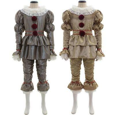 Movie Stephen King It 2017 Pennywise Cosplay Costume The Clown Outfit Halloween