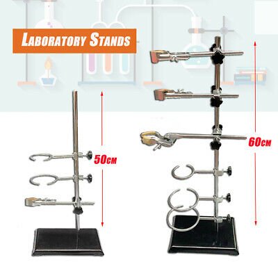Laboratory Stand Lab Holder Clamp Flask/Condenser/Tube Iron 2-Sizes (50/60CM)
