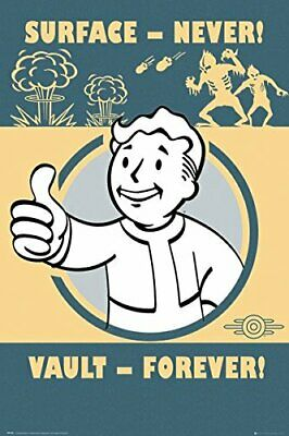 New - FALLOUT 4 Video Gaming Vault Forever Retro Art Poster Print 24 x 36