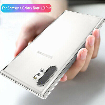 For Samsung Galaxy Note 10 Plus S10 Crystal Clear Soft Slim Silicone Case Cover